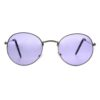 silver blue round sunglass 001