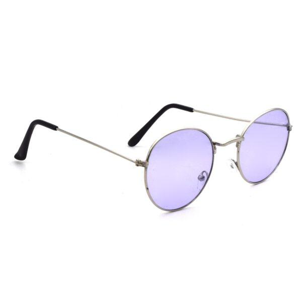 silver blue round trendy sunglass 004