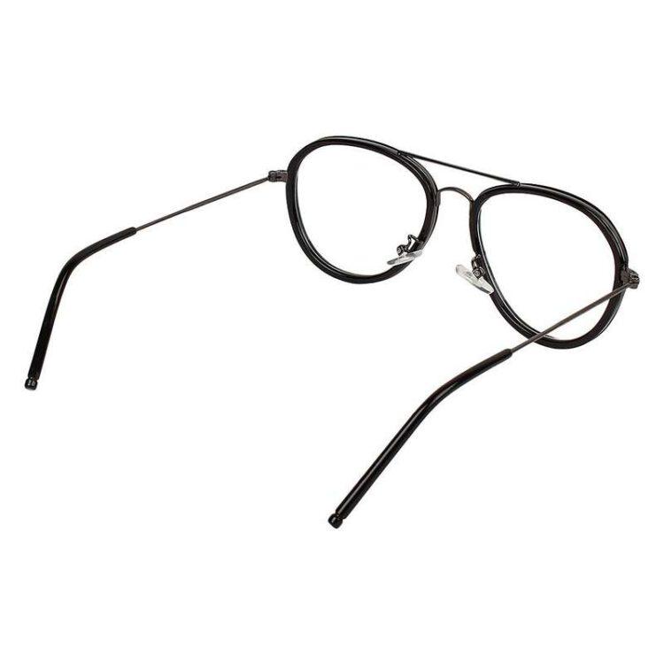 Aviator frame metal eye glasses 005