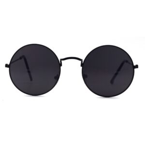 Ocnik Black Round Full Rim Uv Protection Sunglass 001