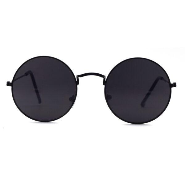 Ocnik Black Round Full Rim Uv Protection Sunglass 001