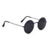 Ocnik Black Round Full Rim Uv Protection Sunglass 4