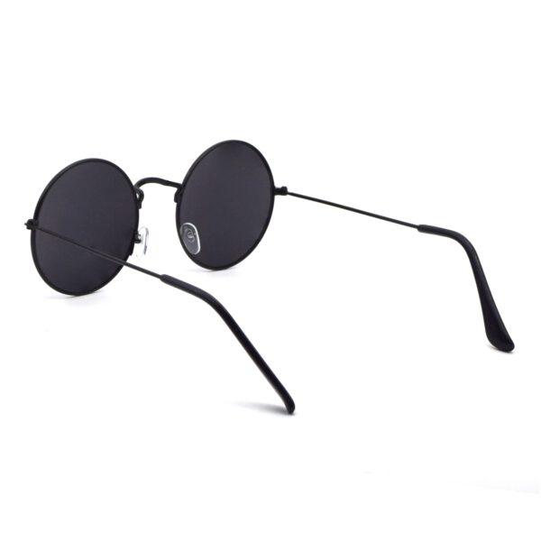 Ocnik Black Round Full Rim Uv Protection Sunglass 5