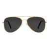 Ocnik Golden black aviator metal sunglass