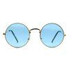 Ocnik Golden blue round metal sunglass