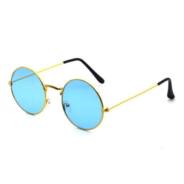Ocnik Golden blue round metal sunglass 2