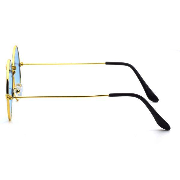 Ocnik Golden blue round metal sunglass 3