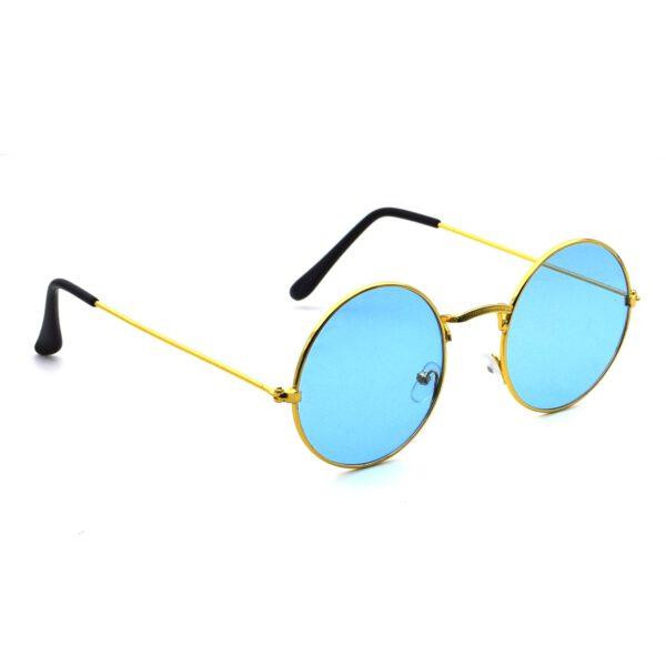 Ocnik Golden blue round metal sunglass 4