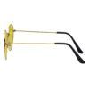 Ocnik Golden yellow round metal sunglass 3