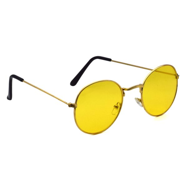 Ocnik Golden yellow round metal sunglass 4