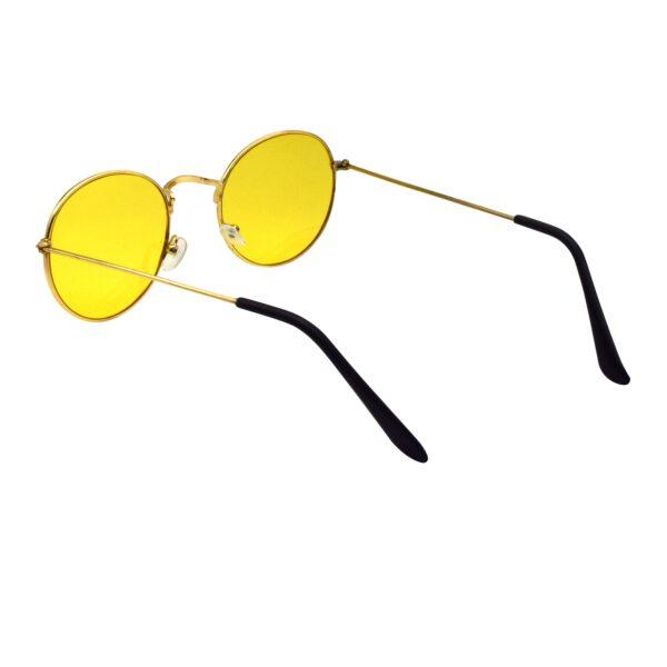 Ocnik Golden yellow round metal sunglass 5