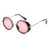 Ocnik Pink Black Round Full Rim Sunglass 2