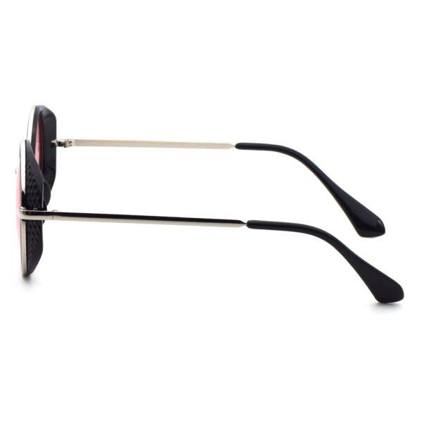 Ocnik Pink Black Round Full Rim Sunglass 3