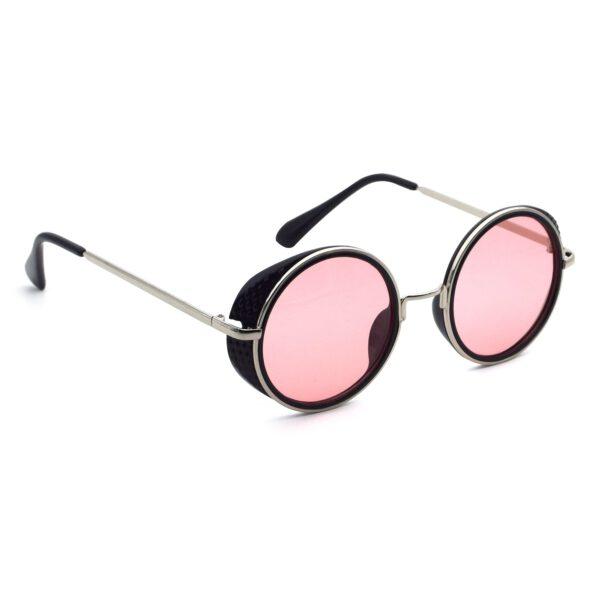 Ocnik Pink Black Round Full Rim Sunglass 4