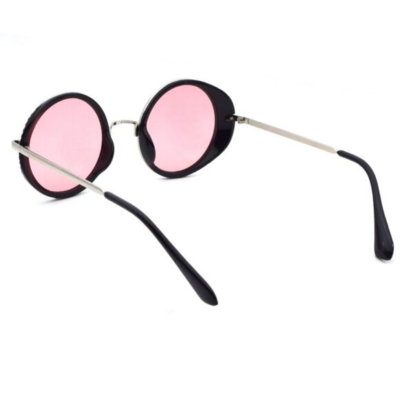 Ocnik Pink Black Round Full Rim Sunglass 5
