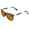 Ocnik RectangleGolden mercury Brown wayfarer Shape Sheet Sunglass 2