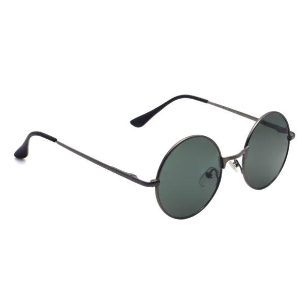Ocnik Round Grey Metal Ghandhi Shape Sunglass 4