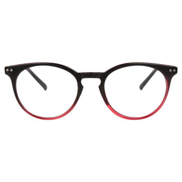 Ocnik Round Red Black Sheet Spectacle Frame