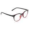 Ocnik Round Red Black Sheet Spectacle Frame 2