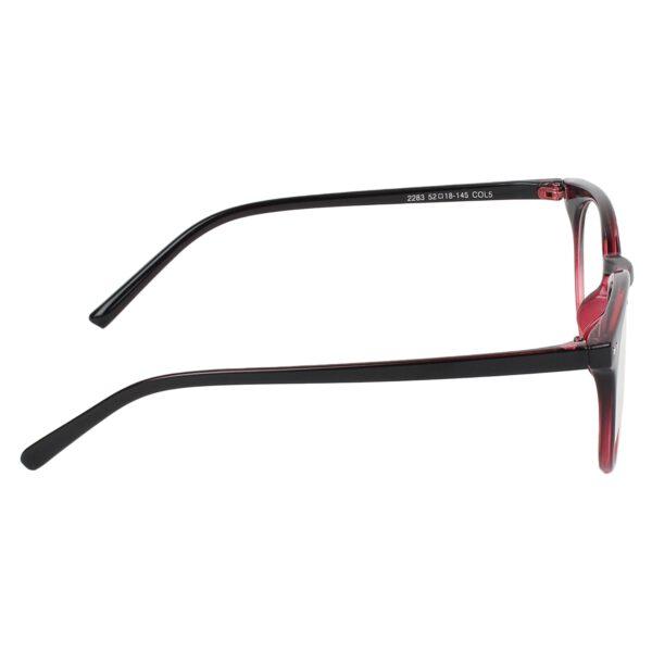Ocnik Round Red Black Sheet Spectacle Frame 4