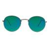 Ocnik Silver Green Ovel Full Rim Uv Protection Sunglass 001