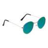 Ocnik Silver Green Ovel Full Rim Uv Protection Sunglass 4