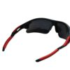 Ocnik Wrap Around red black mirrored cricket Sunglass for unisex 5