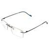 RIMLESS MATEL ODYSEY FRAMES BLUE light weight ocnik eyewear optical 270 004