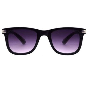 Rectangluar black color light weight sunglass for men 001