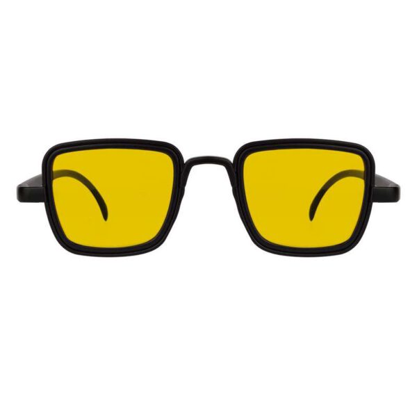 rectangle sunglass yellow black 001