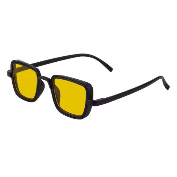 rectangle sunglass yellow black 002