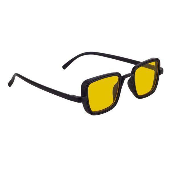 rectangle sunglass yellow black 004