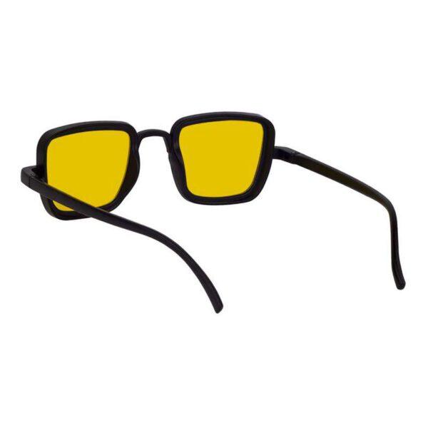 rectangle sunglass yellow black 005